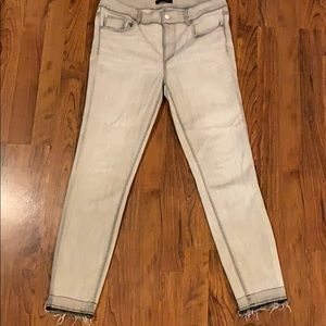 Like new Ann Taylor gray/white washed jeans